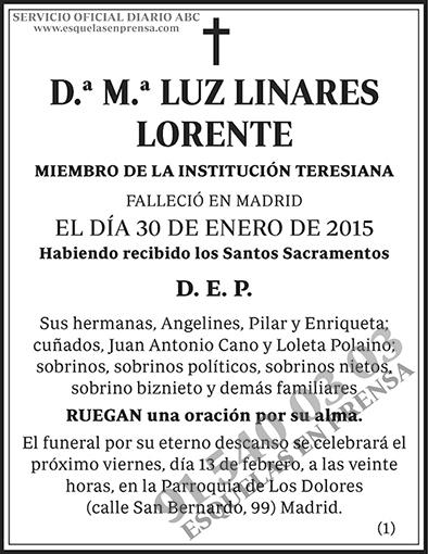 M.ª Luz Linares Lorente